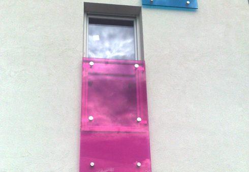 Garde-corps décoratif en verre Miroiterie Nantes