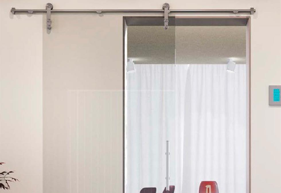 Système porte coulissante verre Nantes (plusieurs modèles nous consulter)